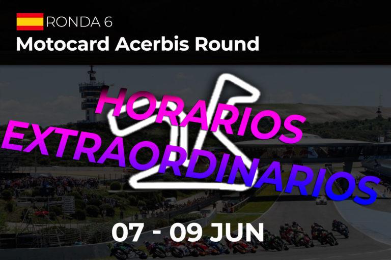 Horarios Circuito de Jerez (Ángel Nieto)